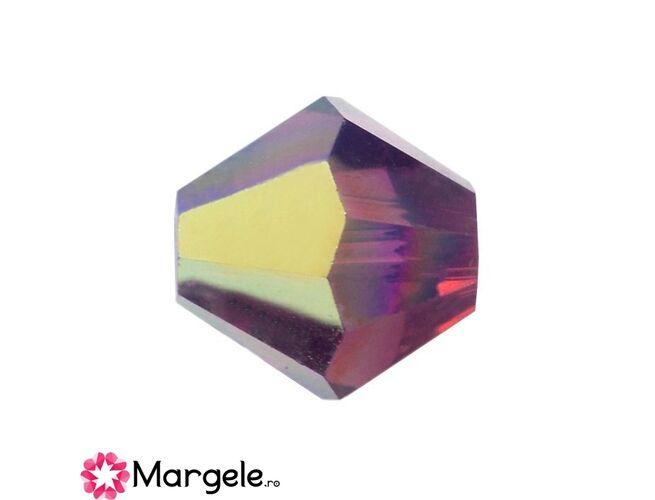 Margele preciosa biconic 4mm amethyst opal ab (10buc)