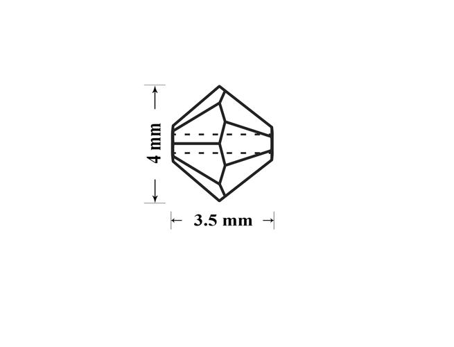 Margele preciosa biconic 4mm fuchsia (10buc)