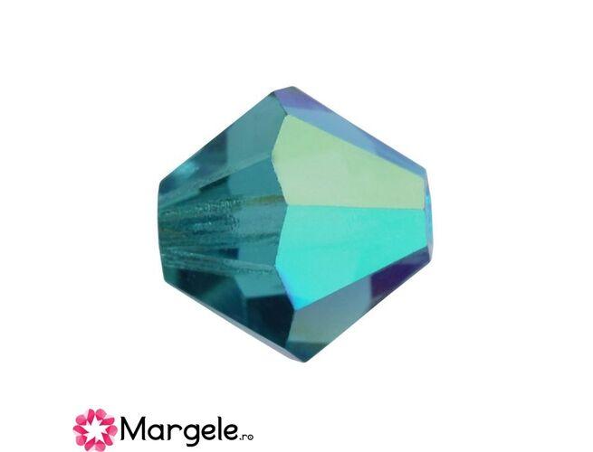 Margele preciosa biconic 4mm indicolite ab (10buc)