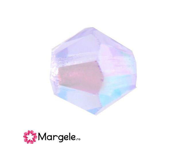 Margele preciosa biconic 4mm violet ab (10buc)