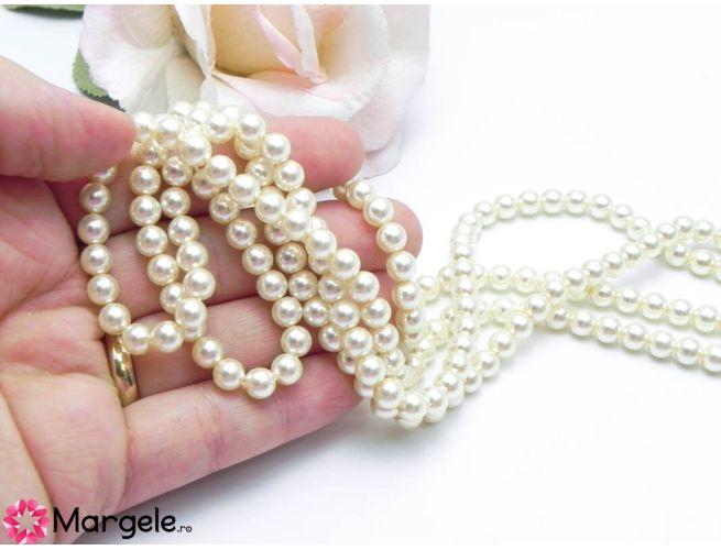 Perle preciosa maxima 6mm light creamrose (1buc)