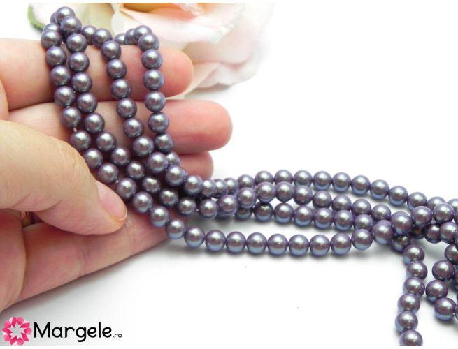 Perle preciosa maxima 6mm pearlescent violet (1buc)