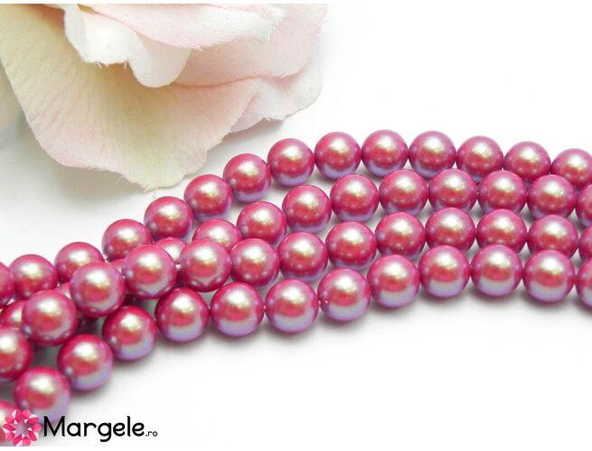 Perle preciosa maxima 8mm pearlescent red (1buc)