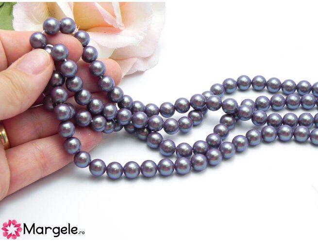 Perle preciosa maxima 8mm pearlescent violet (1buc)