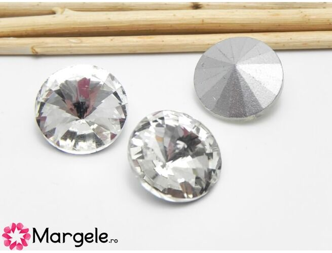 Cabochon din sticla 16mm crystal (1buc)