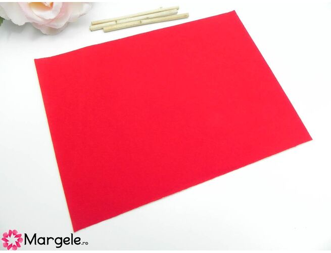 Catifea adeziva 20x15cm rosu