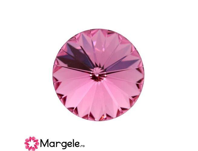 Cristal preciosa rivoli maxima ss47 - 10mm rose (1buc)