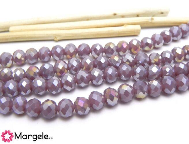 Cristal rondel 6x5mm mov opal ab  (1buc)