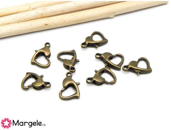 Inchizatoare carabina inima 10x7mm bronz (1buc)