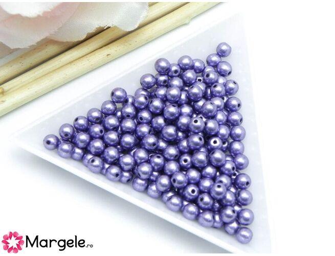 Margele cehia rotunde 4mm metallic crocus petal (10buc)