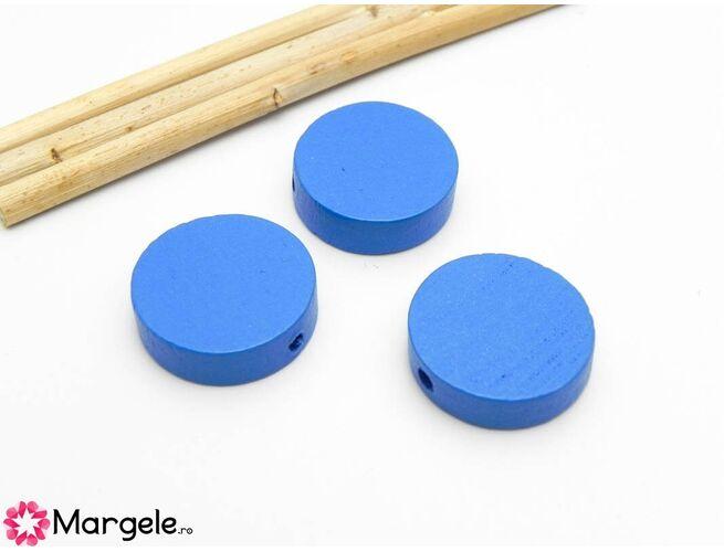 Margele lemn 20x6mm albastru (5buc)