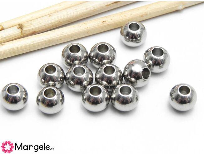 Margele otel inoxidabil 8mm (1buc)