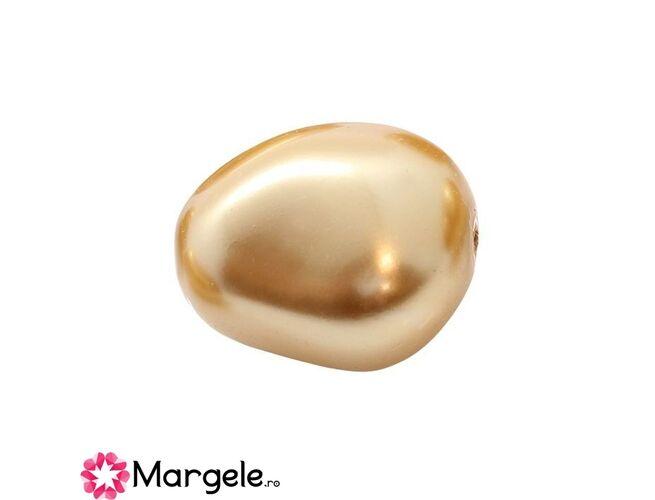 Perle preciosa elliptic 11x9.5mm gold (1buc)