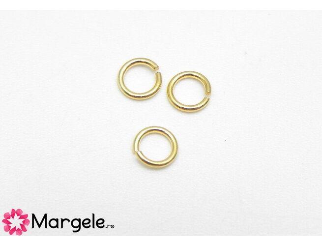 Zale 5x0.8mm argint 925 placat cu aur (1buc)