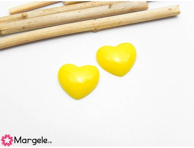 Cabochon rasina inima 16x13mm (1buc)