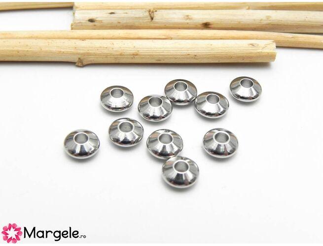Margele otel inoxidabil 6x3mm (1buc)