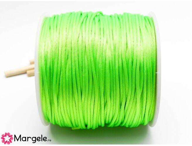 Snur satinat 1mm verde neon (1m)