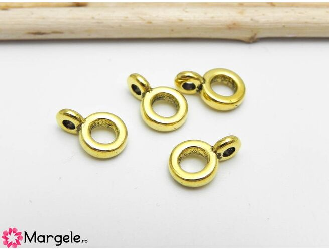 Agatatoare pandantiv 6.5x2mm auriu
