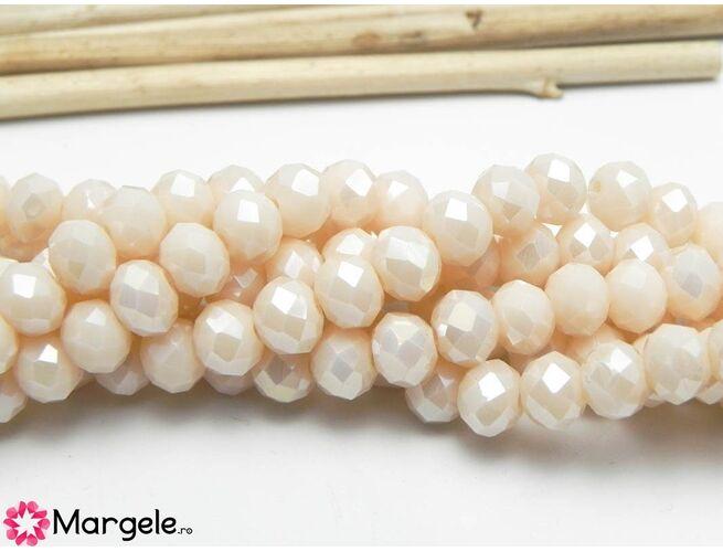 Cristal rondel 6x5mm silk opac ab  (1buc)