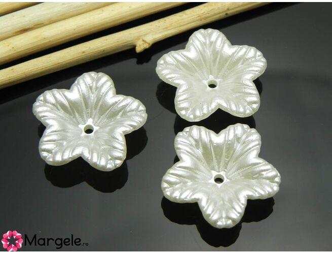 Margele acrilice 18x5mm floare (1buc)