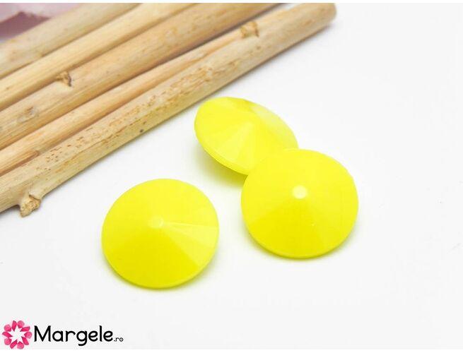 Matubo rivoli 12mm opaque yellow (1buc)
