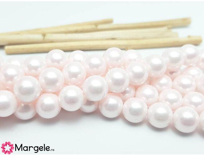 Perle tip mallorca 8mm roz (1buc)