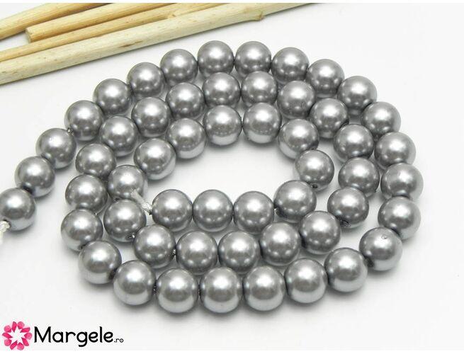 Sirag perle de sticla calitate a 8mm gri