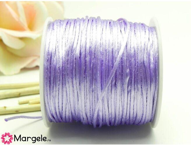 Snur satinat 1mm lila (1m)