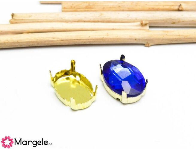 Baza cabochon 14x10mm auriu