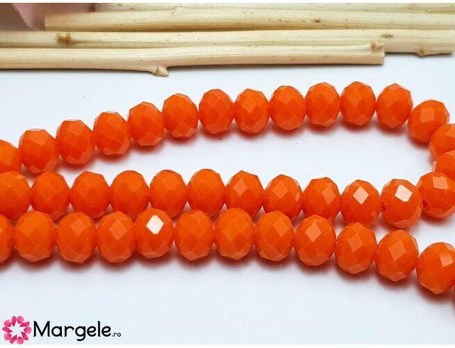 Cristal rondel 8x6mm portocaliu opac