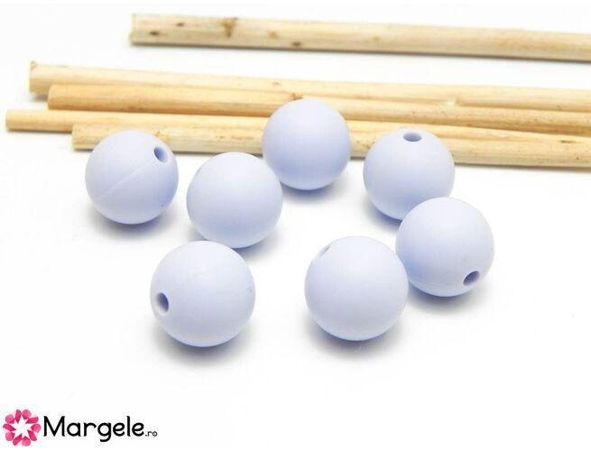 Margele de silicon 8mm baby blue (1buc)