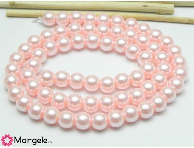 Sirag perle de sticla calitate a 6mm roz