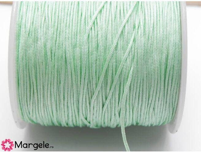 Snur cu nylon pentru bratari 0.8mm verde pastel (1m)
