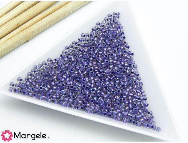 Toho rotunde 11/0 inside color rainbow crystal/metallic purple (5g)