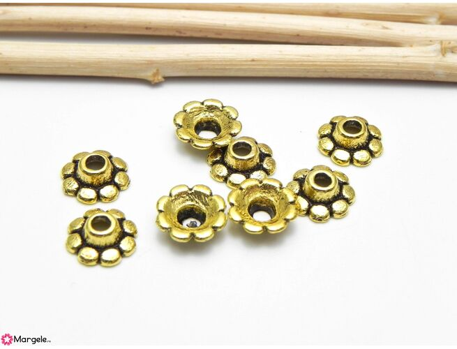 Capacele aurii 8x3mm (10buc)