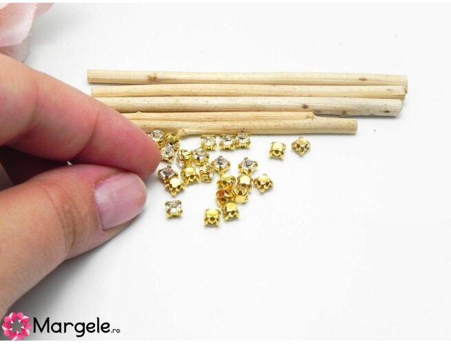 Distantier montee cu rhinestone de cristal 4.3mm transparent (10buc)