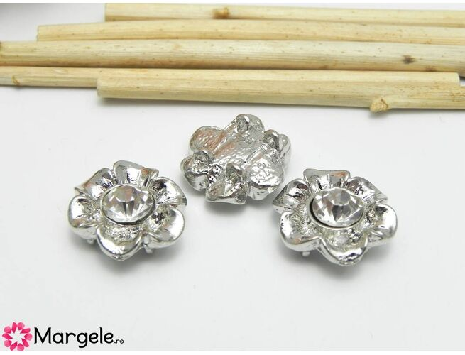 Link 16x14mm argintiu (1 buc)