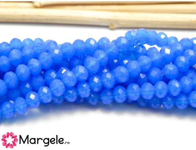 Cristal rondel 4x3mm opal blue (1buc)