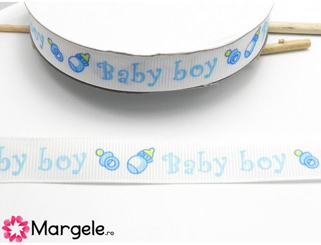 Panglica bebe 14mm albastru (1m)