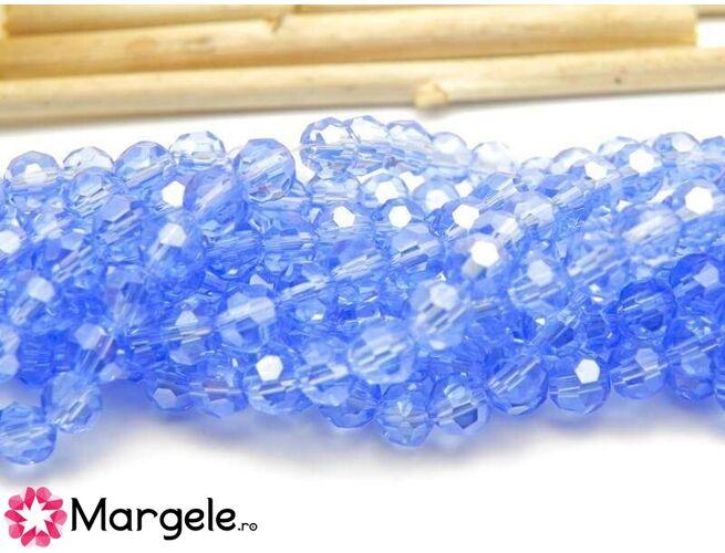 Cristal rotund 4mm albastru deschis (10buc)