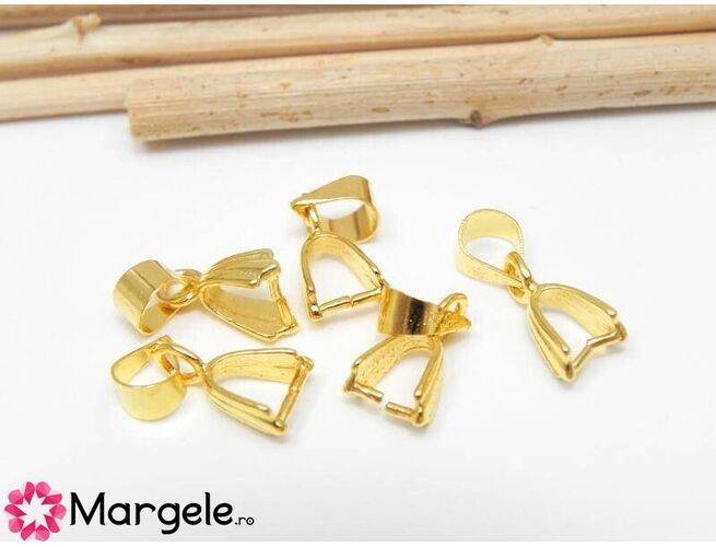 Agatatoare pandantiv 15mm auriu