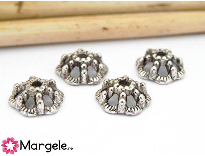 Capacele argintii 10mm (10buc)