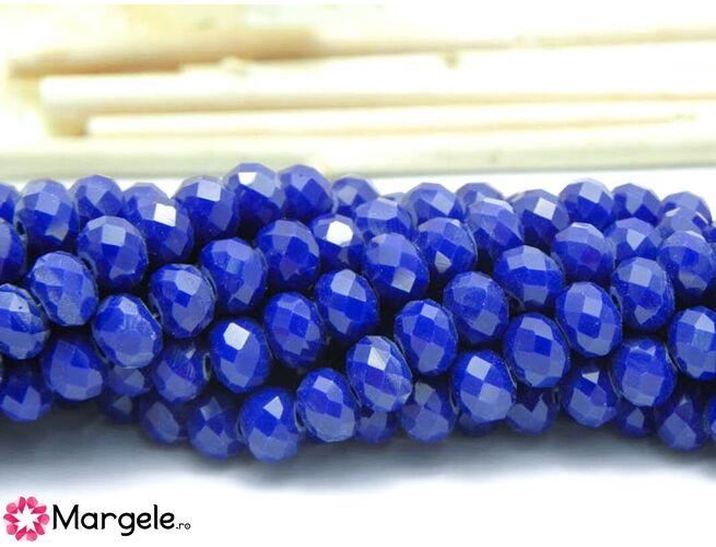 Cristal rondel 6x4mm blue opac  (1buc)