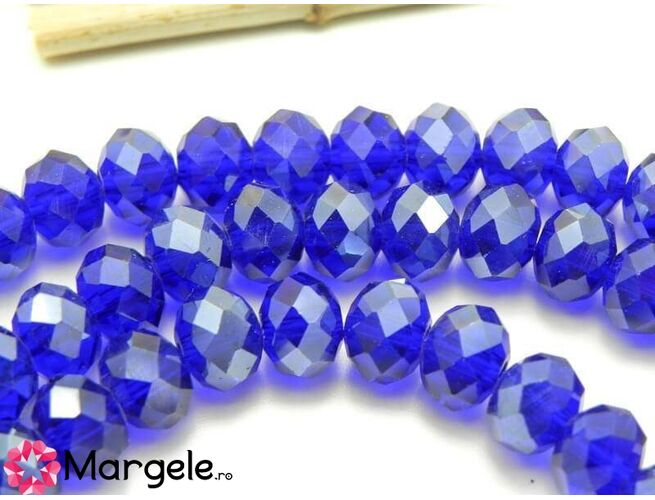 Cristal rondel 8x6mm blue