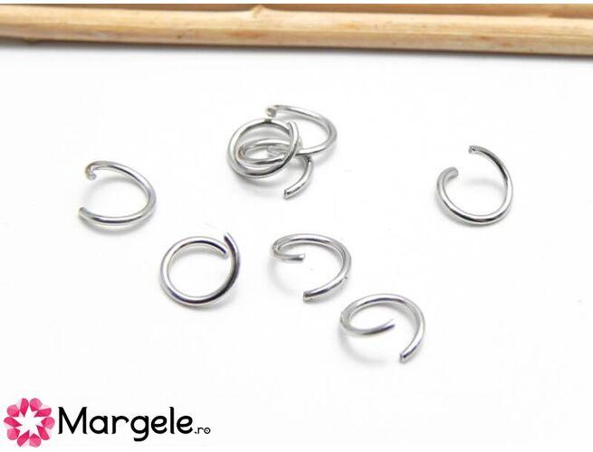 Zale 5mm argintiu inchis (aprox. 100buc)