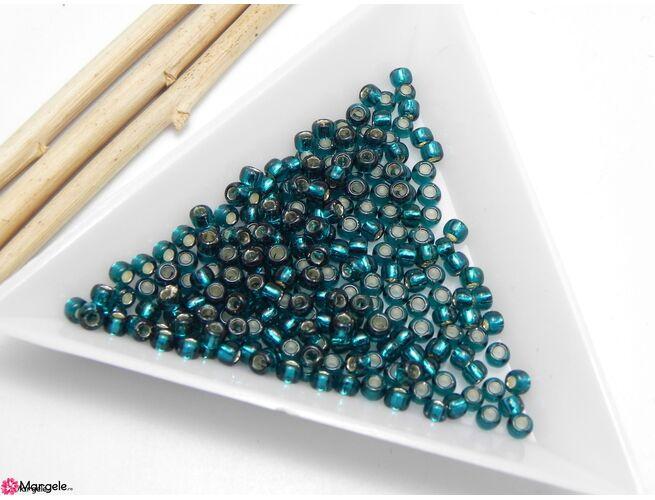 Toho rotunde 8/0 : silver lined teal (5g)