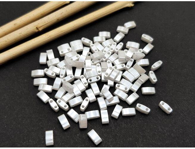 Miyuki Half Tila Opaque White Pearl 5g